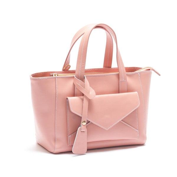 Kožená kabelka Mangotti 447, ružová