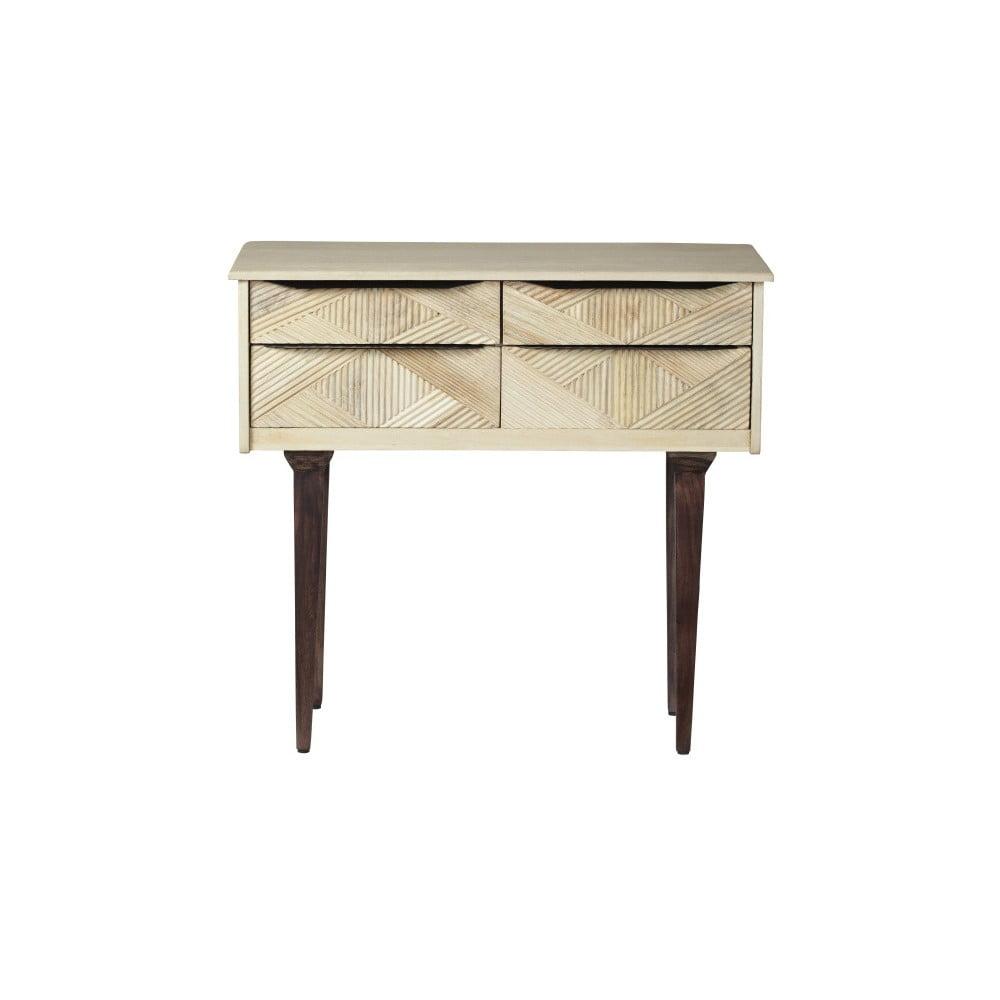 Konzolový stolík z masívneho mangového dreva Woodjam Gatsby Raw