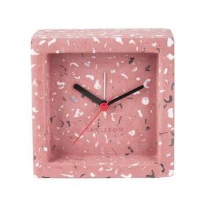 Ružové stolové hodiny s budíkom Karlsson Franky