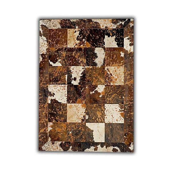 Koberec z pravej kože Acid, 140x200 cm