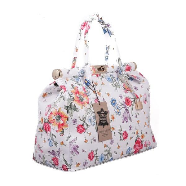 Kvetinová kožená kabelka Chicca Borse Daisy