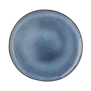 Modrý kameninový plytký tanier Bloomingville Sandrine