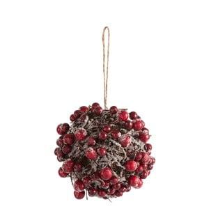Závesná dekorácia J-Line Berries, ⌀12 cm