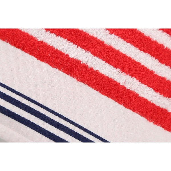 Červeno-biela bavlnená osuška BHPC Velvet, 80x150cm