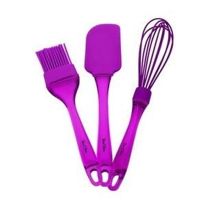 Sada 3 fialových kuchynských pomôcok Tantitoni Bake It
