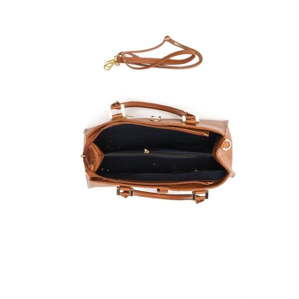 Kožená kabelka Elegant 1078 Cognac