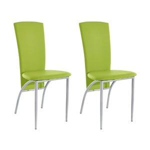 Sada 2 zelených jedálenských  stoličiek Støraa Nevada