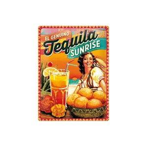 Plechová ceduľa Tequila, 30x40 cm