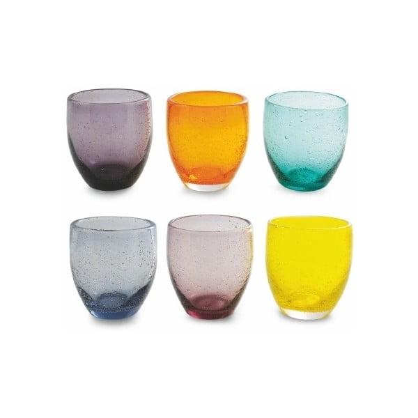 Sada 6 farebných pohárov Villa d'Este Cascina, 280 ml