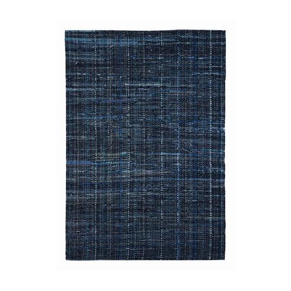 Koberec z recyklovaného materiálu Harris Blue, 160x230 cm