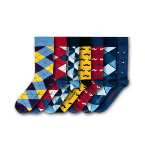 Sada 7 párov ponožiek Black & Parker London Oxford, vl. 37 - 43