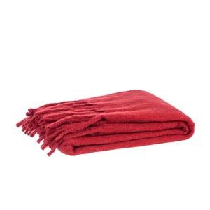 Prikrývka Fringes Red, 125x150 cm