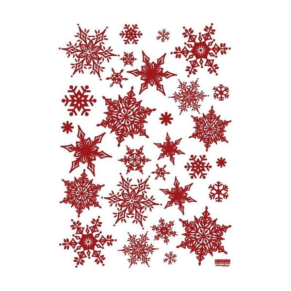 Sada 30 vianočných samolepiek Fanastick Christmas Red Flakes