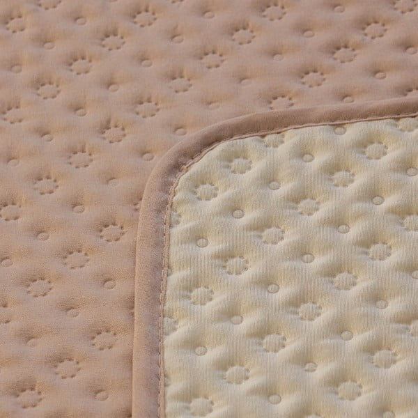 Prešívaná prikrývka Laurine 200x220 cm, krémová