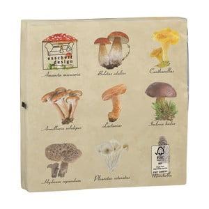 Sada 2 balení obrúskov po 20 kusoch Esschert Design Mushroom