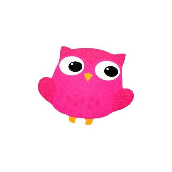 Detský fuksiovoružový koberec Zala Living Owl, 66×66cm