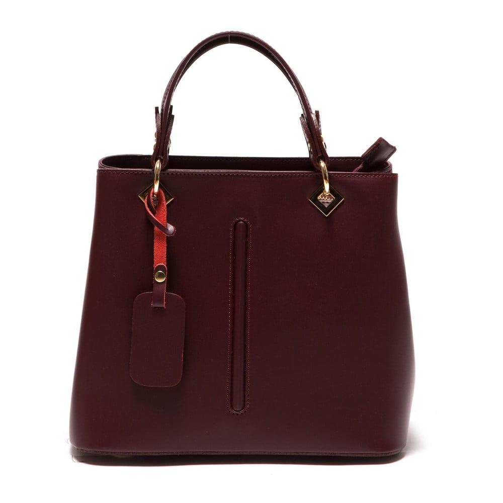 Červená kožená kabelka Roberta M Bella