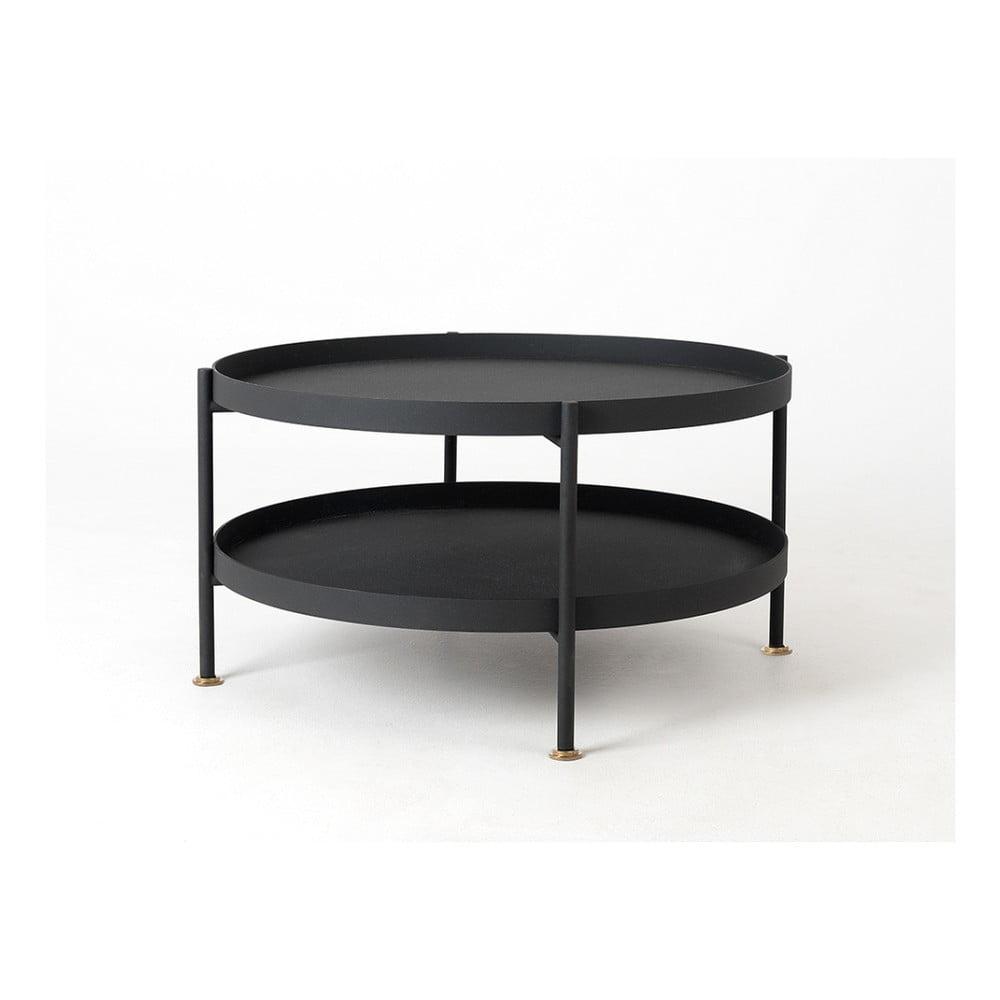 Čierny konferenčný stolík Custom Form Hanna, ⌀ 60 cm