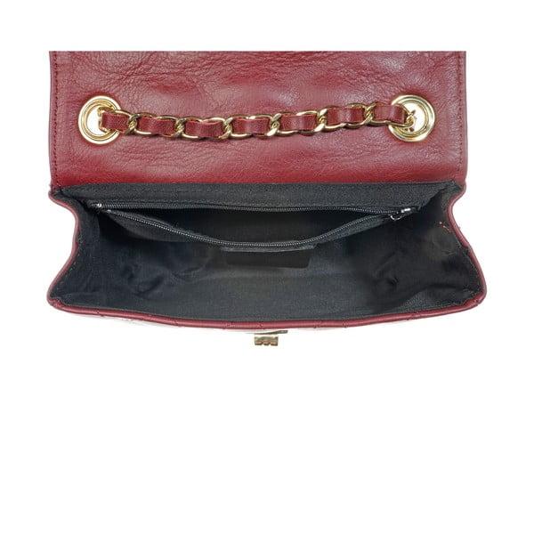 Kožená listová kabelka Coco Miss Bordo