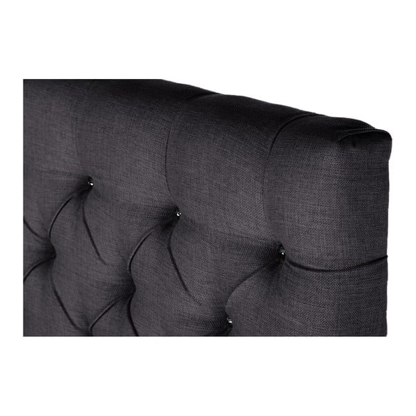 Tmavosivá posteľ s matracom Stella Cadente Mars Forme, 140x200cm