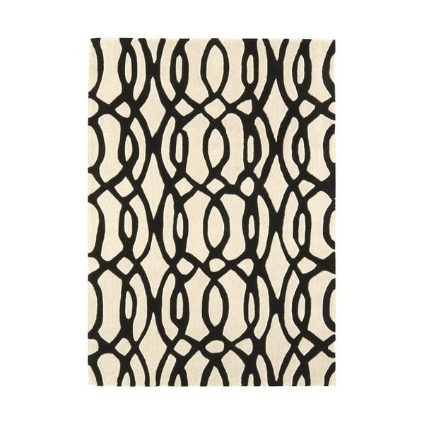 Vlnený koberec Matrix Wire White 120x170 cm