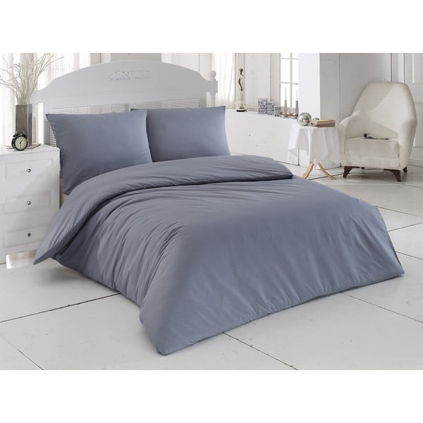 Obliečky s plachtou Plain Grey, 200x220 cm