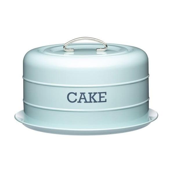Modrá plechová dóza na koláč Kitchen Craft Cake