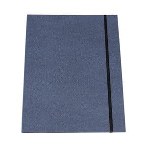 Modré puzdro na dokumenty s elastickým zapínaním Bigso, A4