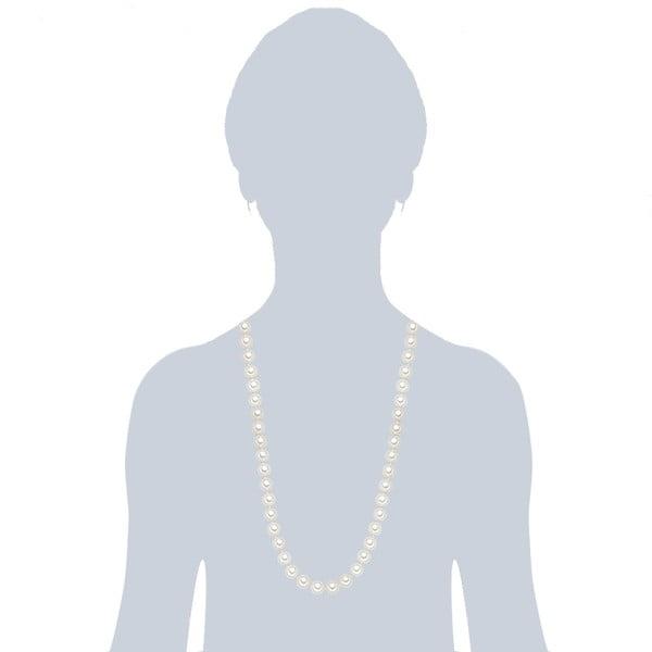Náhrdelník s bielymi perlami ⌀ 10 mm Perldesse Muschel, dĺžka 80 cm