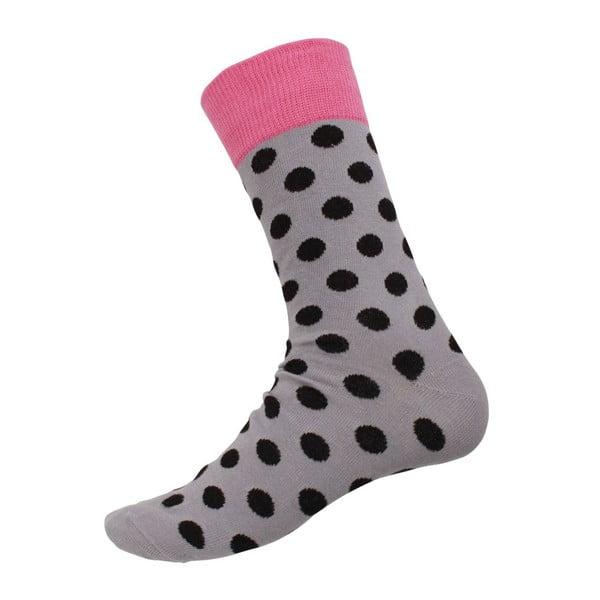 Ponožky Big Dots Grey, veľkosť 40-44