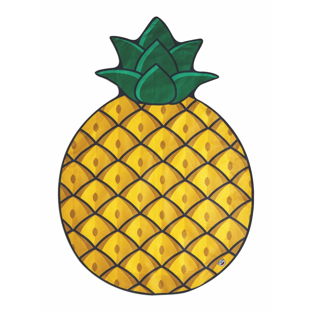 Plážová deka v tvare ananásu Big Mouth Inc., 172 cm × 122 cm