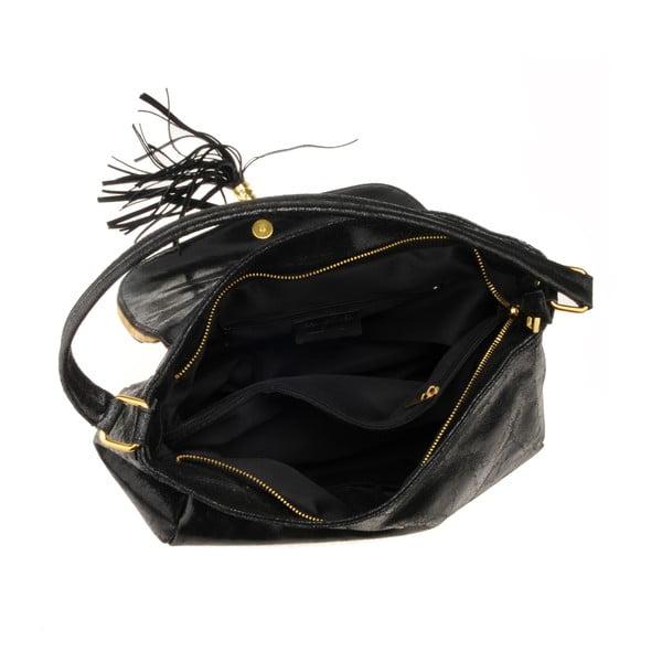 Kožená kabelka Diadema, čierna