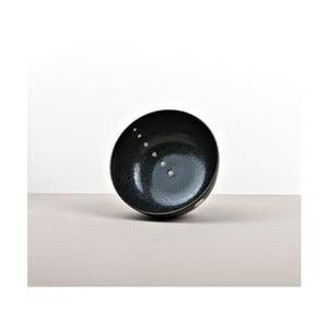 Čierna keramická miska na rezance Made In Japan White Dott, ⌀ 16 cm