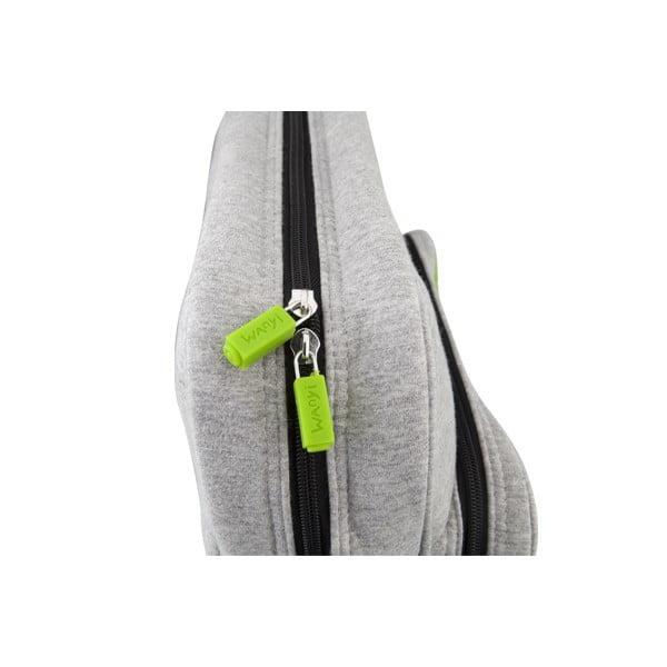 Pixelová taška cez rameno, grey/green