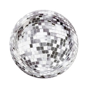 Sada 12 papierových tanierikov Talking Tables Disco, ⌀ 18 cm
