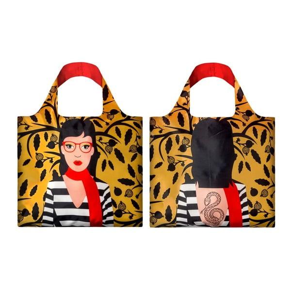 Obojstranná skladacia nákupná taška skapsičkou LOQI Snake