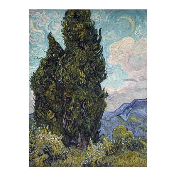Obraz Vincenta van Gogha - Cypresses, 50x40 cm