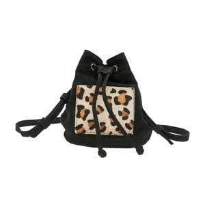 Čierny semišový batoh O My Bag Leopard