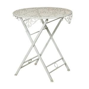 Skladací záhradný železný stolík Crido Consulting Biscottini Vintage