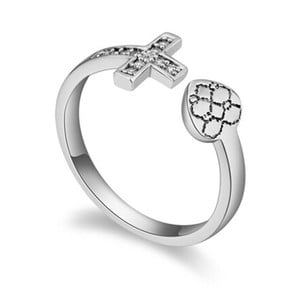 Prsteň s krištáľmi Swarovski Fuerza, veľkosť 52