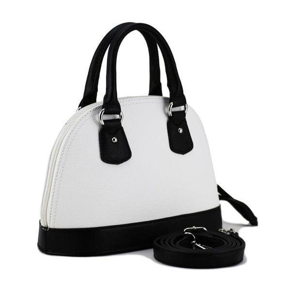 Kožená kabelka Paula Black/White