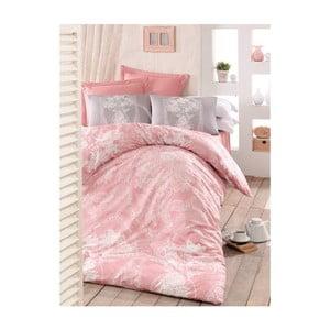 Ružové obliečky na jednolôžko Lili, 160 x 220 cm