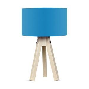 Stolová lampa s modrým tienidlom Kate Louise Naturel