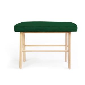 Stolička z borovicového dreva s tmavozeleným zamatovým poťahom Velvet Atelier