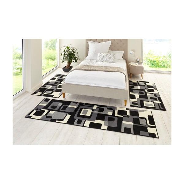 Čierny koberec Hanse Home Hamla Retro, 80x300cm