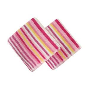 Sada 2 ružových uterákov Cizgi, 40 x 80 cm