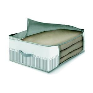 Zeleno-biely úložný box na periny Cosatto Bright, 45 x 45 cm