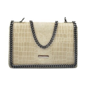 Béžová kožená kabelka Carla Ferreri Gerberette