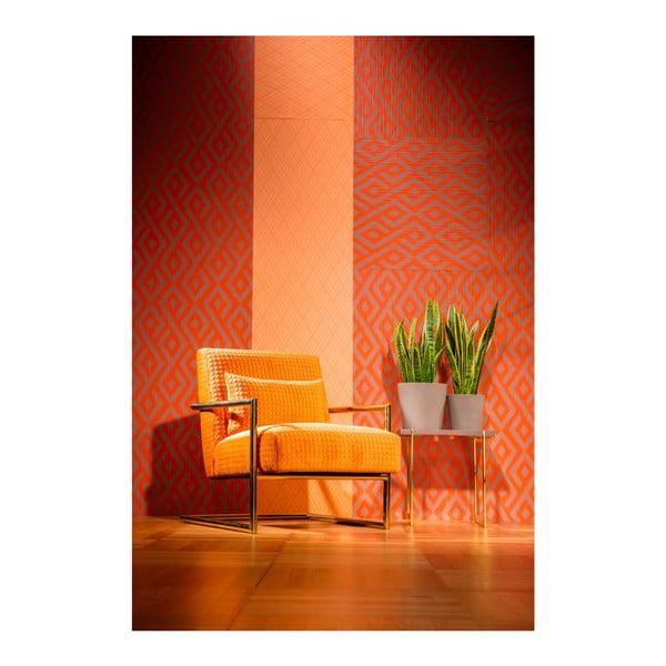 Oranžové kreslo Kare Design Vegas