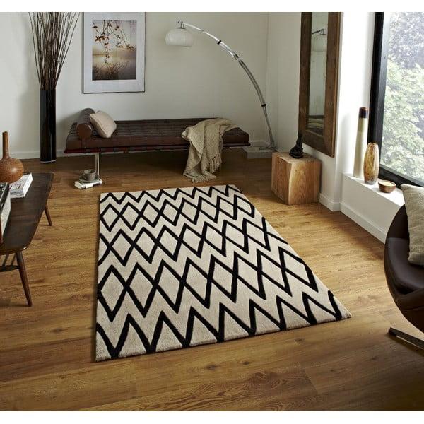 Koberec Beige Black, 150x230 cm